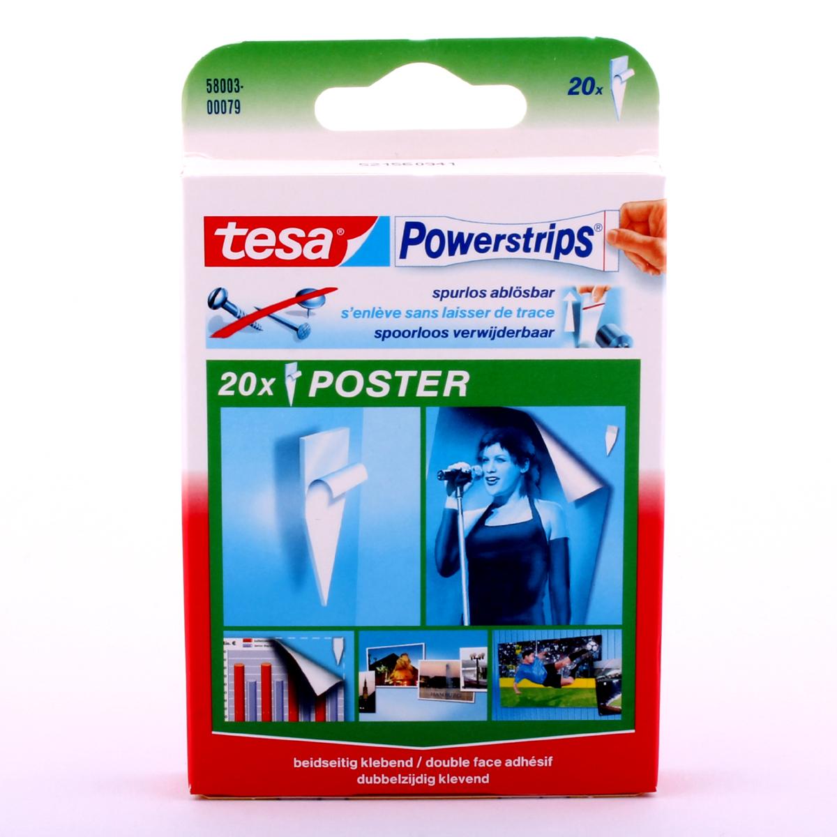 tesa powerstrips posterstrips klebestrips klebestreifen haftstreifen ebay. Black Bedroom Furniture Sets. Home Design Ideas
