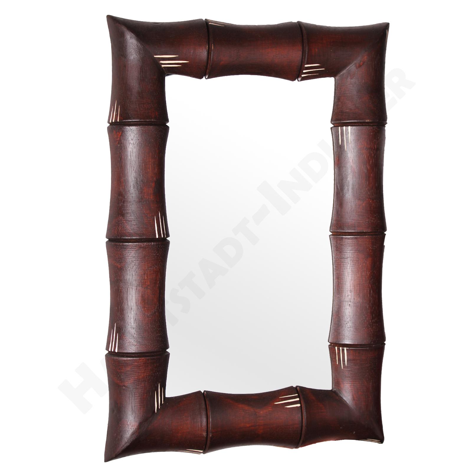 Möbel jugendstil möbel weiß : Spiegel Wandspiegel aus Bambus eckig oval Spiegelfläche ethno Natur ...